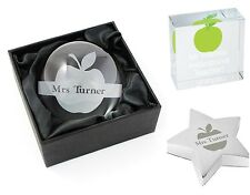 Personalised Apple Design Teacher Thank You Gifts Leaving Presents  Xmas