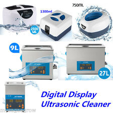 Pro Digital Timer Ultrasonic Cleaner Stainless Steel Tank Jewelry Watch Clean UK