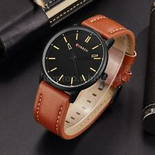 CURREN Fashion Ultra Thin Men's Leather Water Resistant Quartz Wrist Watch K6A3