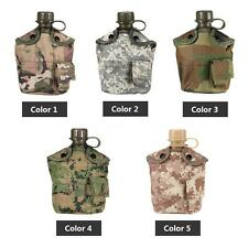 Military Canteen Hydration Water Bottle Cover Water Cup Outdoor Camping C7T9