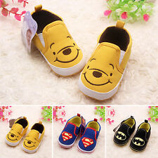 Newborn Toddler Baby Kids Boys Batman Crib Shoes Soft Breathable Child Trainers