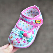 lovely Infant Shoes Baby Girls Princess Shoes Toddler Walking Shoes Squeaky Bow