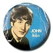 John Lennon The Beatles Badge