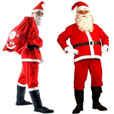 5 Piece Santa Suit Set Christmas Santa Claus Costume Adult Random Size