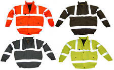 HI VIZ PREMIUM BOMBER JACKET MEN'S VISIBILITY WORK WEAR NEW FAST DISPATCH