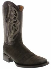 mens brown crocodile belly genuine leather western cowboy boots broad square