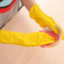 Latex Rubber Long Gloves Dishes Washing bathroom Kitchen Cleaning Hand Protect