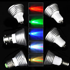 E27 3W RGB Multicolor LED 16 Color Changing Lamp Light Bulb -IR Remote Control
