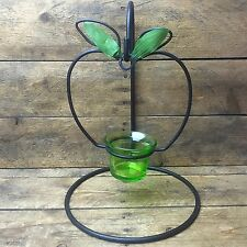 Wrought Iron Hanging Apple Tealight Candle Holder