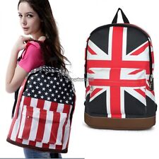 Book Campus Backpack Flag Print Bag Shoulder Unisex Bags Canvas Schoolbag ED