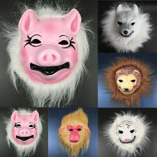 Novelty Animal Head Mask Creepy Halloween Cosplay Costume Theater Prop Latex Toy