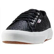 Superga 2750 Boucle Womens Trainers Black New Shoes
