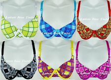Plaids Demi Bra 32A34A36A38A32B34B36B38B40B42B32C34C36C38C40C42C New BR9638