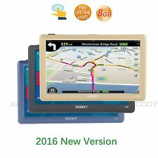 "XGODY HD 7""TRUCK CAR GPS Navigation FM 8GB Touch Screen SAT NAV With Sunshade"