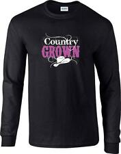 Country Grown Cowboy Hat Cowgirl Long Sleeve T-Shirt