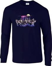 Wolf Pack Wolves Lightning Night Hunt Moon Long Sleeve T-Shirt