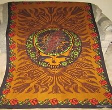 New Brown Steal Your Face Grateful Dead Tapestry Large Poster Gift Hippie NIP