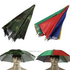 Foldable Sun Umbrella Hat Golf Fishing Camping Headwear Cap Head Hats Ou WT7n