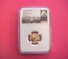 2015 China G50Y Panda Early Releases NGC MS 70 1/10 Ounce Gold Coin