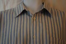 NORDSTROM 1901 mens size XL - Blue/White STRIPED { Oxford } Button Up Shirt