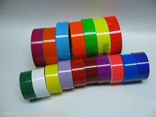 WIDE Colored Glossy Vinyl Tape, choose your color and size, Gloss, Neons, Solids