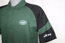 NEW Mens NFL Equipment Polo NY JETS Green Black Football Logo Golf Shirt