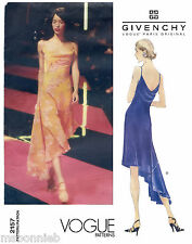 Vogue 2157 Alexander McQueen Givenchy Bias Flared Pullover Dress Sewing Pattern