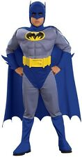 Rubies Brave & the Bold Deluxe Batman Muscle Chest Boys Halloween Costume 883482