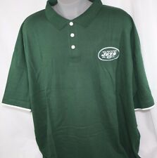 NEW Mens NFL Equipment Team Apparel New York NY JETS Green Polo Golf Style Shirt