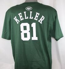 NEW Mens REEBOK New York NY JETS Green #81 Dustin KELLER Player Tee T-Shirt