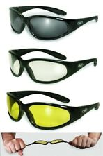 UNBREAKABLE FOAM PADDED ANTI FOG Motorcycle Riding Safety SUNGLASSES-Free Pouch!