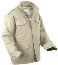 m-65 field jacket with removable liner khaki military style rothco 8254