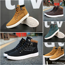 Mens Male Warm Faux Suede Lace UP Shoes Sports Snakers High Top Ankle Boots Hot