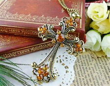 HOT Wholesale 1Pcs Super Fashion Charm Jewelry Cross Crystal Necklace Pendant