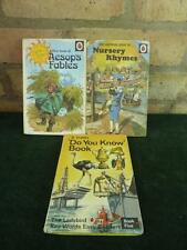 3 vintage ladybird books Do you know  Book Nursery Rhymes Aesop's fables
