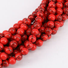 Lot 15 Inches Red Turquoise Loose Spacer Beads Charm Bracelet Making 4-12mm