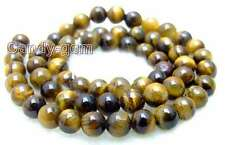 "SALE small 6mm Round tiger's-eye gemstone Beads strand-15""-los496 Free shipping"