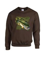 Largemouth Bass Fishing Fisherman Crewneck Sweatshirt