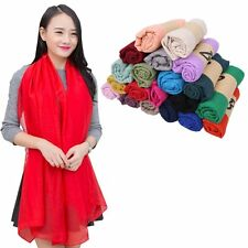 Womens Fancy Shawl Scarf Fashion Cotton Scarves Mixed Solid Candy Colors Scarves