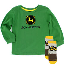 John Deere Toddler Boys Long Sleeve Tee and Crew Socks Set JDKIT144