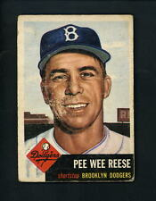 1953 Topps # 76 Pee Wee Reese Good condition Brooklyn Dodgers