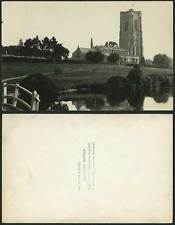 Suffolk Old Real Photo Postcard Lavenham Tudor Church