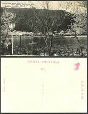 Japan Old Postcard Suma Pleasure Ground, KOBE, Boating Lake Big Black Grape Wine