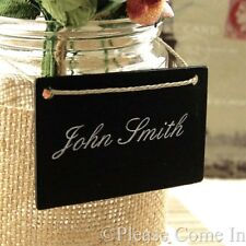 10 Mini Blackboard/Chalkboard Place Cards/Table Numbers/Menu Cards Wedding
