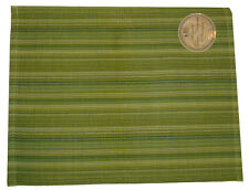 Placemats Set of 4 Ribbed Damask Pattern Green Table Decor 14 x 19