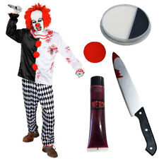 MEN'S KILLER CLOWN ADULTS HALLOWEEN FANCY DRESS COSTUME HORROR CIRCUS EVIL SCARY