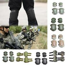 Pop New 4Pcs Knee Elbow Protective Pad Gear Sports Tactical Airsoft Combat Skate