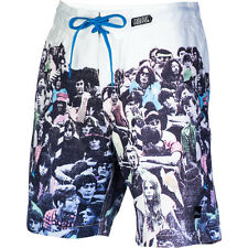 IMPERIAL MOTION Listen WOODSTOCK Music CONCERT Swim SURF Board SHORTS Men sz S M