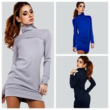 Sexy Women's Long Sleeve Bandage Bodycon Evening Party Cocktail Turtleneck Dress