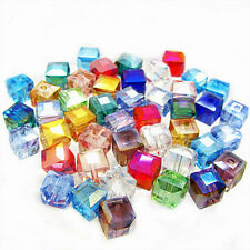 Wholesale 50/100Pcs Gzech Glass Crystal Square Loose Spacer Bead Jewelry Making